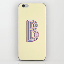 Letter B - 36 Days of Type iPhone Skin