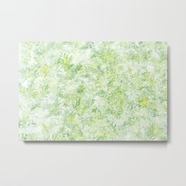 Green and Yellow Foliage Metal Print