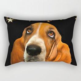A Basset Hound. (Painting.) Rectangular Pillow