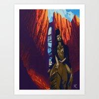 Hua Mulan  Art Print