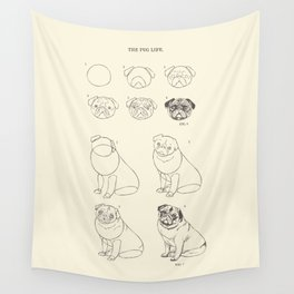 How to Draw The Pug Life Wall Tapestry