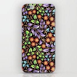 Filigree Floral smaller scale iPhone Skin