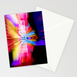 Lights Camera Action Fremont Theater zoom burst photograph Stationery Cards