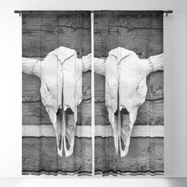Buffalo Skull Blackout Curtain