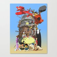calcifer Canvas Prints featuring Studio of Dreams by CromMorc