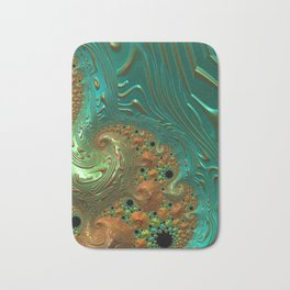 Cool Creamsicle - Fractal Art Bath Mat