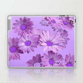 Pinkish Lilac Color Purple Daisy Flowers Garden Laptop & iPad Skin