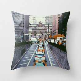 Outside Grand Central, NYC Throw Pillow