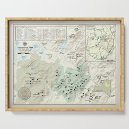Adirondack 46er [vintage inspired] High Peaks area map Serving Tray