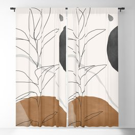 Abstract Art /Minimal Plant Blackout Curtain