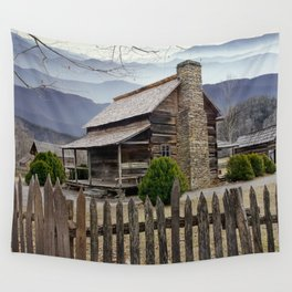 Appalachian Mountain Cabin Wall Tapestry