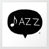 jazz Art Prints featuring Jazz by Abel Fdez