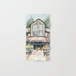 Coffee Shop Art Urban City Watercolor Hand & Bath Towel