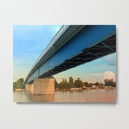 Bridge across the river Danube | architectural photography Metal Print