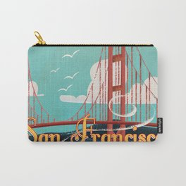 Vintage San Francisco Travel poster Carry-All Pouch
