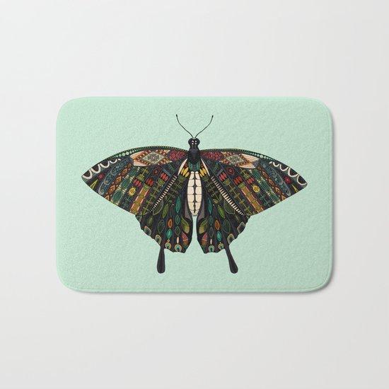 swallowtail butterfly mint Bath Mat
