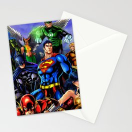 heroes all Stationery Cards