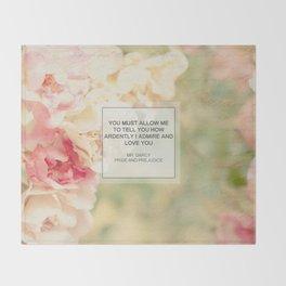 Mr. Darcy Proposal ~ Jane Austen Throw Blanket
