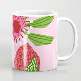 Flowers on pink Coffee Mug