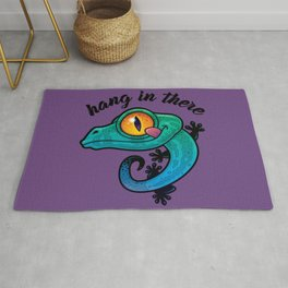 Hang In There Colorful Gecko Rug