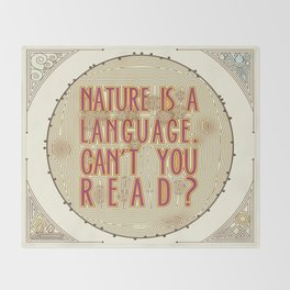 Nature is a Language: The Smiths Lyrics Throw Blanket