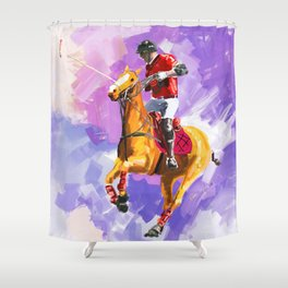 power of polo Shower Curtain