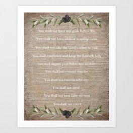 The 10 Commandments Art Print