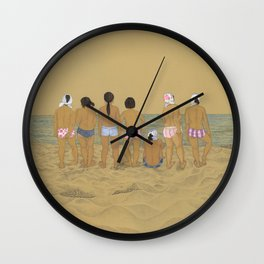 Waiting For The Catch Wall Clock