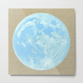 Moon Portrait 4, Blue Moon Metal Print