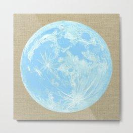 Moon Portrait 4, Blue Moon Metal Print