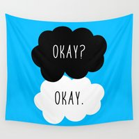 the fault Wall Tapestries featuring Okay? Okay. The Fault in Our Stars  by Janice Wong