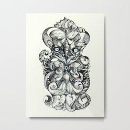 2faces Metal Print