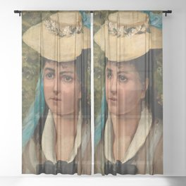 Pierre-Auguste Renoir - Lise in a Straw Hat Sheer Curtain