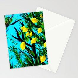 Lemon tree digital illustration Stationery Cards