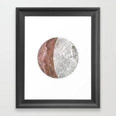 Planetary Bodies - Crescent Rock Framed Art Print