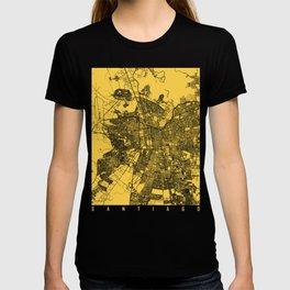 Santiago map yellow T-shirt