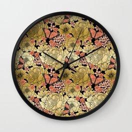 Golden Dream Wall Clock