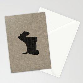 Scottish Terrier Scottie Silhouette Stationery Cards
