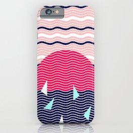 Hello Ocean Sunset Waves iPhone Case
