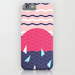 Hello Ocean Sunset Waves iPhone Case