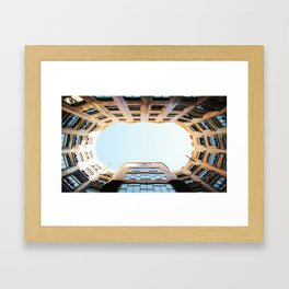 Looking Up in La Pedrera Framed Art Print