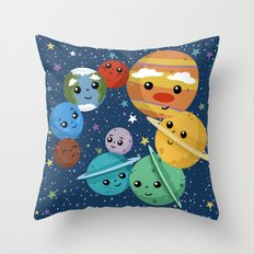 Out Of This World Cuteness (dark) Throw Pillow