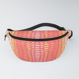 Peach Cobbler - Vertical Stripe in Peach Cream and Pink Fanny Pack