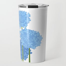 Blue Flowers Travel Mug