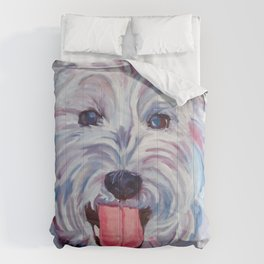 The Westie Kirby Dog Portrait Comforters