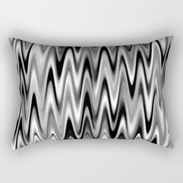 WAVY #1 (Black, White & Grays) Rectangular Pillow