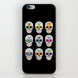 Nine skulls iPhone Skin