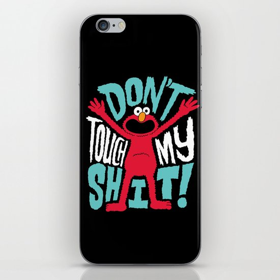 Crazy Elmo iPhone & iPod Skin