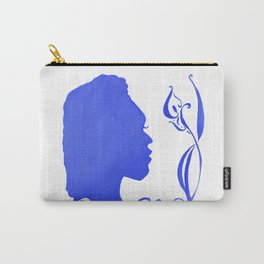 Blue Silhouette & Calla Carry-All Pouch
