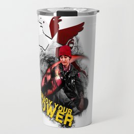 """InFamous Second Son - """"ENJOY YOUR POWER"""" Travel Mug"""